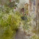 jardin dans le Bas-Montreuil / aquarelle