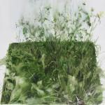 carré d'herbe / aquarelle