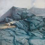 le grand lit bleu / huile
